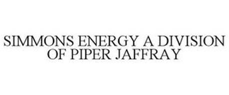SIMMONS ENERGY A DIVISION OF PIPER JAFFRAY