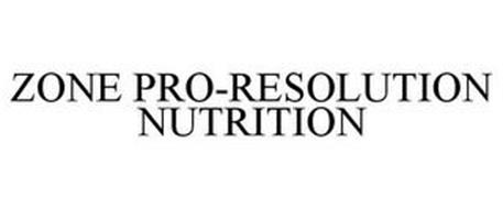 ZONE PRO-RESOLUTION NUTRITION