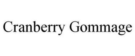 CRANBERRY GOMMAGE