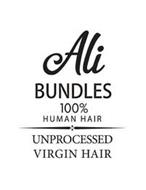 ALI BUNDLES 100% HUMAN HAIR UNPROCESSED VIRGIN HAIR