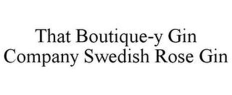 THAT BOUTIQUE-Y GIN COMPANY SWEDISH ROSE GIN