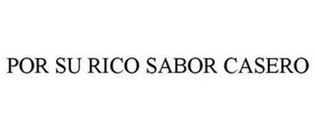 POR SU RICO SABOR CASERO