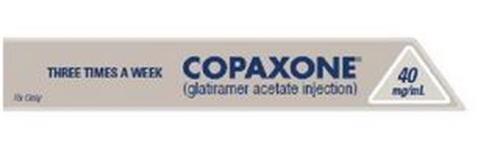 COPAXONE 40MG/ML (GLATIRAMER ACETATE INJECTION) THREE TIMES A WEEK RX ONLY