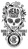 HEAD CHARGE DIPA DOUBLE IPA DOUBLE IPA OTTER CREEK BREWING CO. OCB AN ENLIGHTENED STATE OF HAZE & HOPS