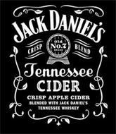 JACK DANIEL'S CRISP OLD NO. 7 BRAND BLEND TENNESSEE CIDER CRISP APPLE CIDER BLENDED WITH JACK DANIEL'S TENNESSEE WHISKEY