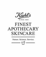 KIEHL'S SINCE 1851 FINEST APOTHECARY SKINCARE NATURE. SCIENCE. SERVICE.
