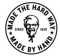 MADE THE HARD WAY MADE BY HAND SINCE 1940