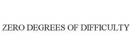 ZERO DEGREES OF DIFFICULTY