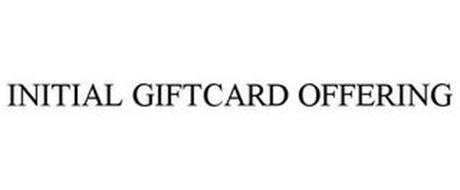 INITIAL GIFTCARD OFFERING
