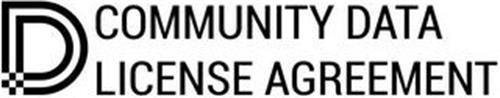 D COMMUNITY DATA LICENSE AGREEMENT