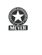 MANUFACTURED IN DORECHESTER WI BY MEYER