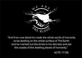 WE ARE ONE BLOOD