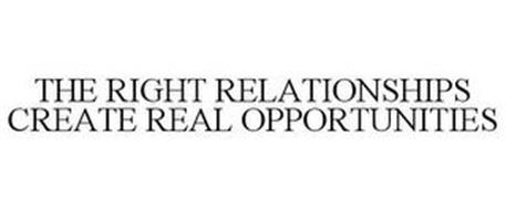 THE RIGHT RELATIONSHIPS CREATE REAL OPPORTUNITIES