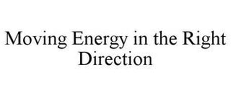MOVING ENERGY IN THE RIGHT DIRECTION