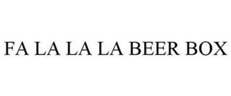 FA LA LA LA BEER BOX