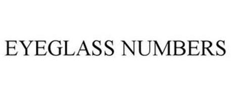 EYEGLASS NUMBERS
