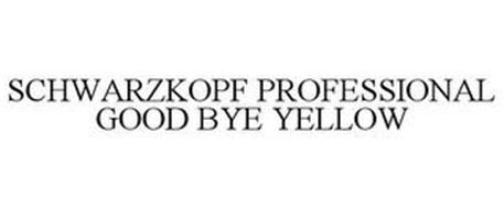 SCHWARZKOPF PROFESSIONAL GOOD BYE YELLOW