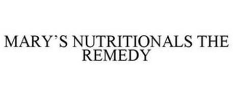 MARY'S NUTRITIONALS THE REMEDY