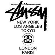 STÜSSY NEW YORK LOS ANGELES TOKYO SS  LONDON PARIS