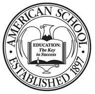 · AMERICAN SCHOOL · ESTABLISHED 1897 EDUCATION THE KEY TO SUCCESS
