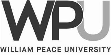 WPU WILLIAM PEACE UNIVERSITY