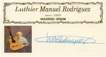 LUTHIER MANUEL RODRÍGUEZ SINCE 1905 MADRID - SPAIN