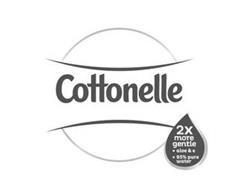 COTTONELLE 2X MORE GENTLE ALOE & E 95% PURE WATER