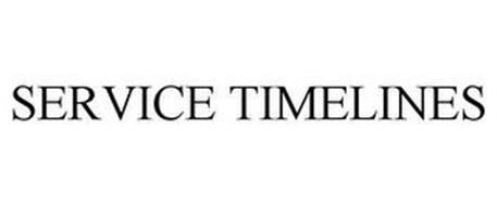 SERVICE TIMELINES