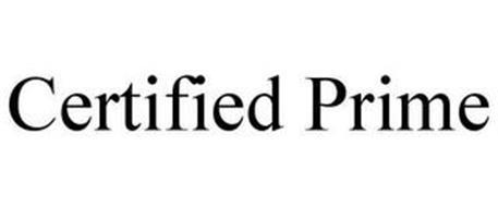CERTIFIED PRIME