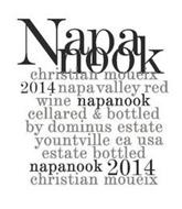 NAPANOOK CHRISTIAN MOUEIX 2014 NAPA VALLEY RED WINE NAPANOOK CELLARED & BOTTLED BY DOMINUS ESTATE YOUNTVILLE CA USA ESTATE BOTTLED NAPANOOK 2014 CHRISTIAN MOUEIX.