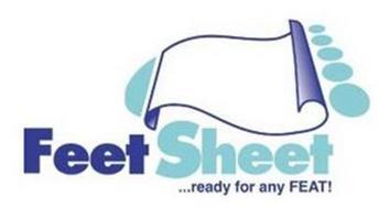 FEET SHEET . . . READY FOR ANY FEAT!