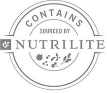 CONTAINS SOURCED BY NUTRILITE