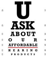 U ASK ABOUT OUR AFFORDABLE HEARING PRODUCTS