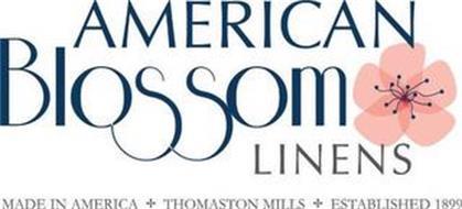 AMERICAN BLOSSOM LINENS MADE IN AMERICATHOMASTON MILLS ESTABLISHED 1899