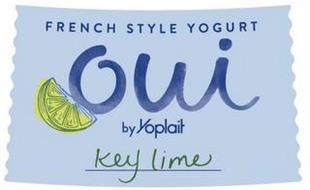 FRENCH STYLE YOGURT OUI BY YOPLAIT KEY LIME