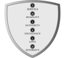 S SERVICE H HUMILITY I INTEGRITY E EXCELLENCE L LOVE D DIVERSITY