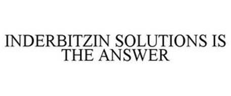 INDERBITZIN SOLUTIONS IS THE ANSWER