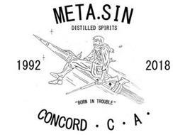 META.SIN DISTILLED SPIRITS 1992 2018