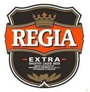 REGIA EXTRA SMOOTH LAGER BEER BREWED AND BOTTLED BY INDUSTRIAS LA CONSTANCIA S.A. DE C.V. SAN SALVADOR, EL SALVADOR