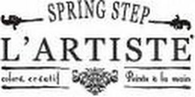 L'ARTISTE SPRING STEP COLORÉ CRÉATIF PEINTS À LA MAIN