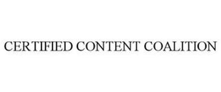 CERTIFIED CONTENT COALITION