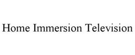 HOME IMMERSION TELEVISION