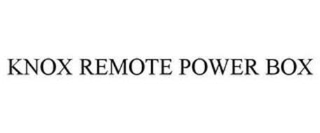KNOX REMOTE POWER BOX