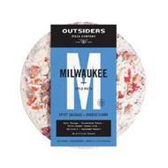 OUTSIDERS PIZZA COMPANY DAMN GOOD M MILWAUKEE STYLE PIZZA
