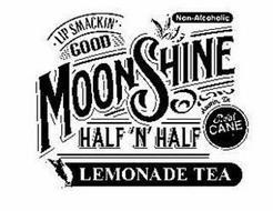 LIP SMACKIN' GOOD MOONSHINE HALF 'N' HALFLEMONADE TEA AUSTIN, TX REAL CANE SUGAR NON ALCOHOLIC