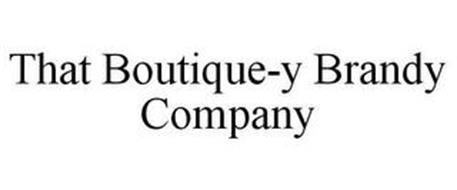 THAT BOUTIQUE-Y BRANDY COMPANY