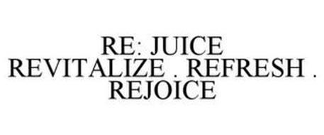 RE: JUICE REVITALIZE . REFRESH . REJOICE