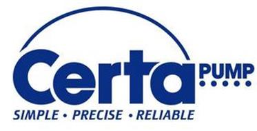 CERTA PUMP SIMPLE · PRECISE · RELIABLE