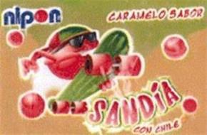 NIPON CARAMELO SABOR SANDIA CON CHILE