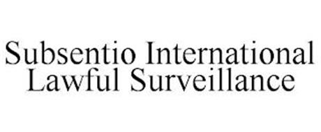 SUBSENTIO INTERNATIONAL LAWFUL SURVEILLANCE